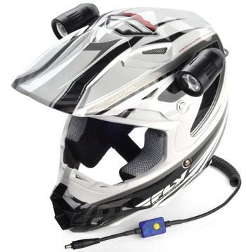 Trail Tech Equinox Led Helmet Lights on Off Road Dual Light Switch