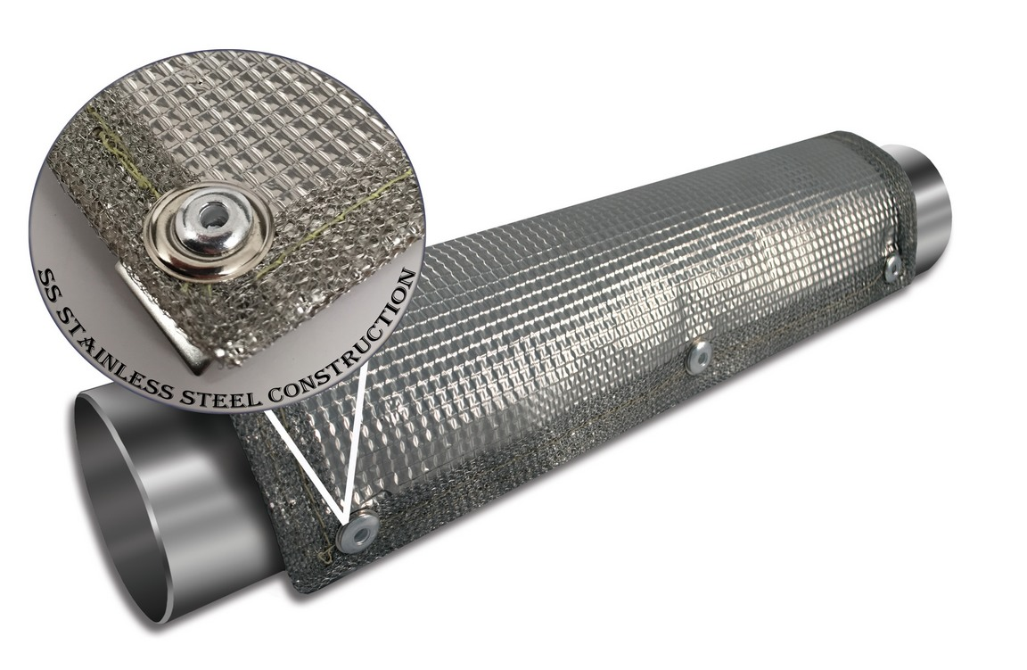 Thermo Tec Stainless Steel Clamp On Heat Shield Splash N