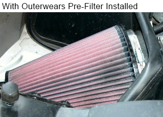 Outerwears Water Resistant Pre-Filters For Ku0026N Filters | Splashu0026#39;n Dirt Distribution Canada